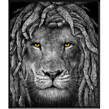 Rasta Lion Eyes Throw