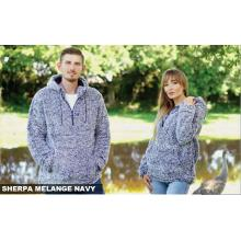 Cabin Fever Navy Sherpa Pullovers